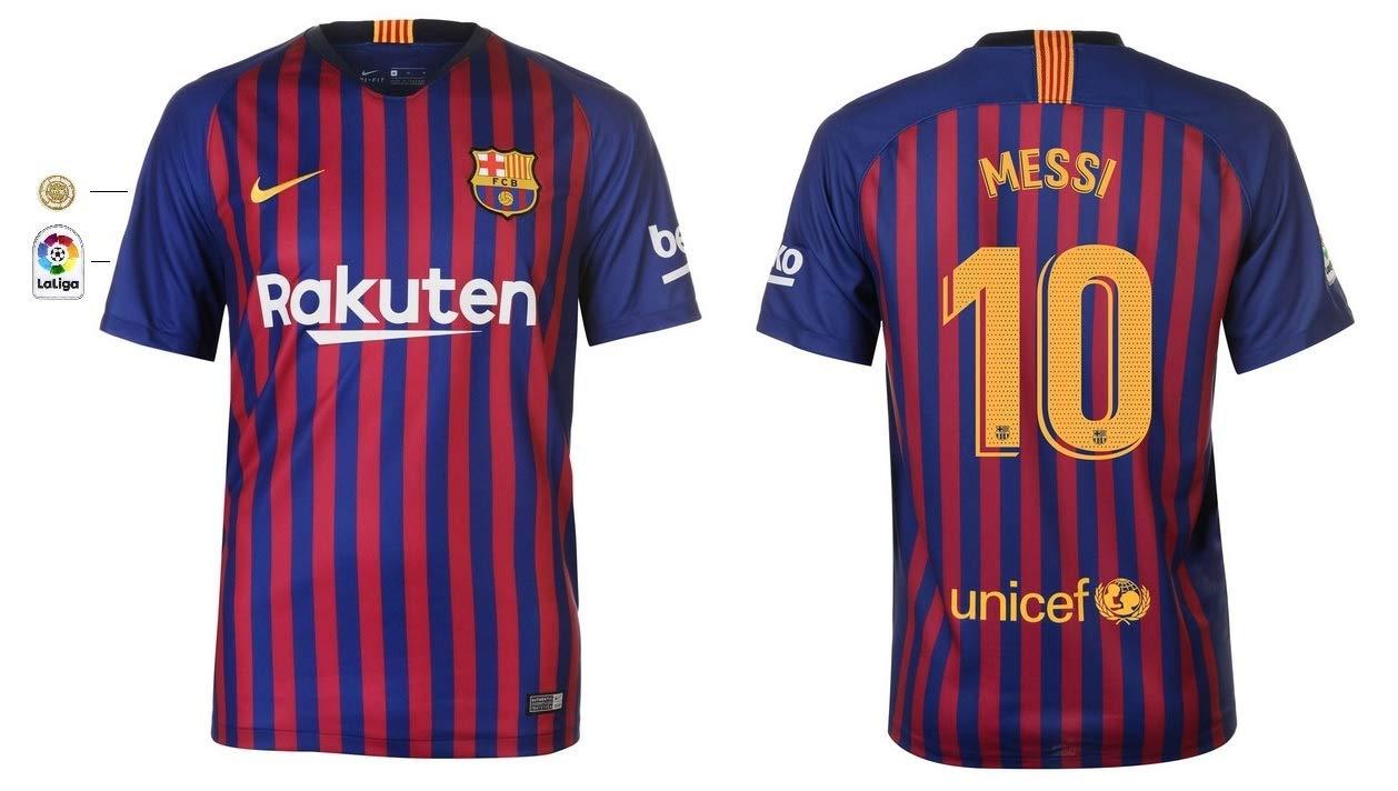 F.C. Barcelona Trikot Kinder 2018-2019 Home La Liga - Messi 10