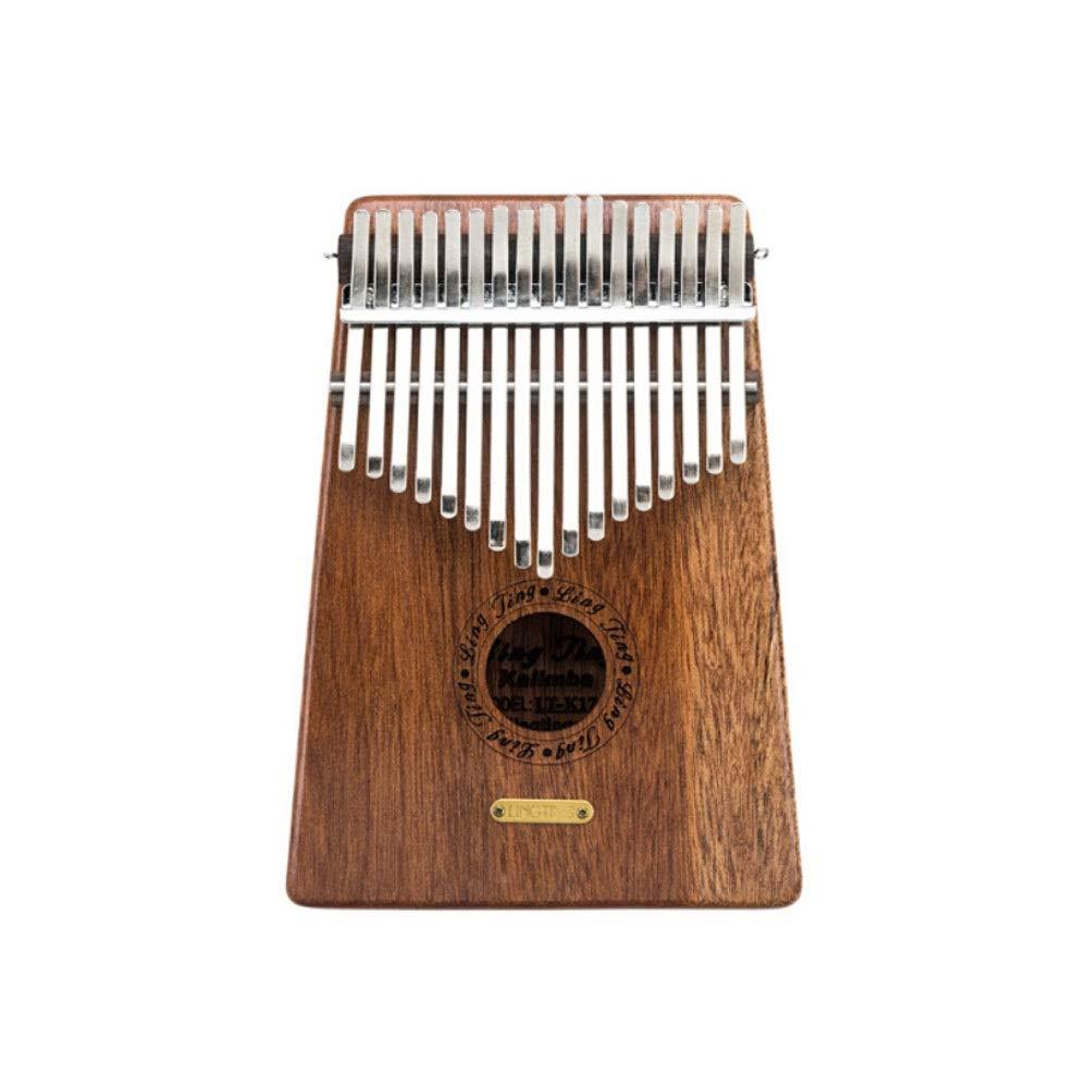 Youshangshipin Kalimba, 17-tone African Kalimba Thumb Piano, Beginner Portable Mini Style (style 1, Giveaway; Thumb Piano + Tuning Hammer + Scale Stickers + Pendant) (Edition : Style 1)