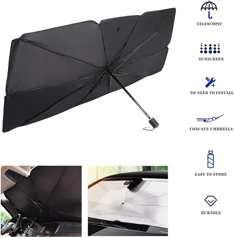 Sonnenschutz Auto Frontschutz Sonnenschutz Uv Faltbar Auto Frontscheibe Sonnenschutz Windschutzscheibe Regenschirm Interieur Auto