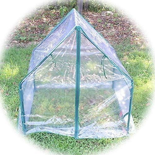 温室 GZHENH ミニ温室、 強くて丈夫 ポータブル棚 防雨 アンチスノー コートヤード温室 インストールが簡単 (Color : Clear-4pcs, Size : 90x90x92cm)