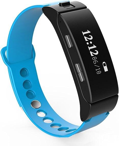 letech pulsera inteligente 0,71 pulgadas pantalla OLED inteligente pulsera auricular podómetro actividad Fitness Tracker Monitor de sueño teléfono funciones de alerta anti-lost Bluetooth 4.0 pulsera con App para IOS y Android Smartphone,
