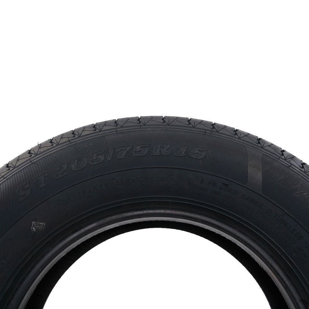 2 Pcs ST205/75R15 Radial Trailer Tires 15'' 8 Ply D Load Tire