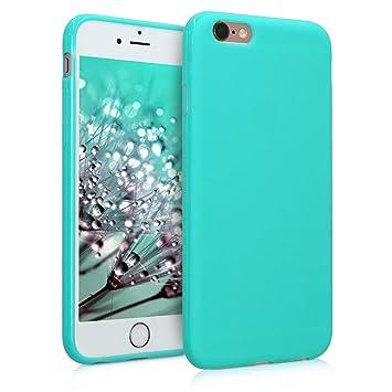 kwmobile Funda para Apple iPhone 6 / 6S - Carcasa para móvil en TPU silicona - Protector trasero en azul bebé