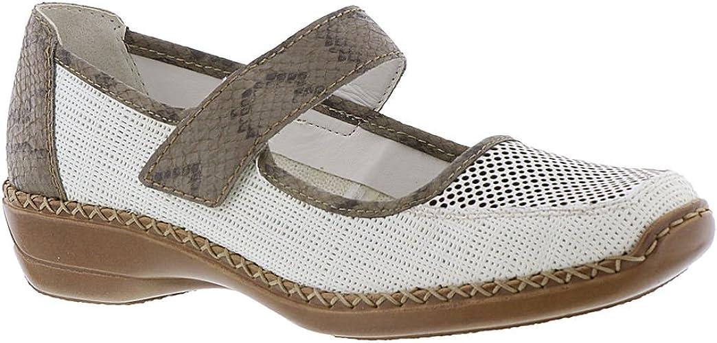 Rieker , weiß(weissleinen), Gr. 42: : Schuhe