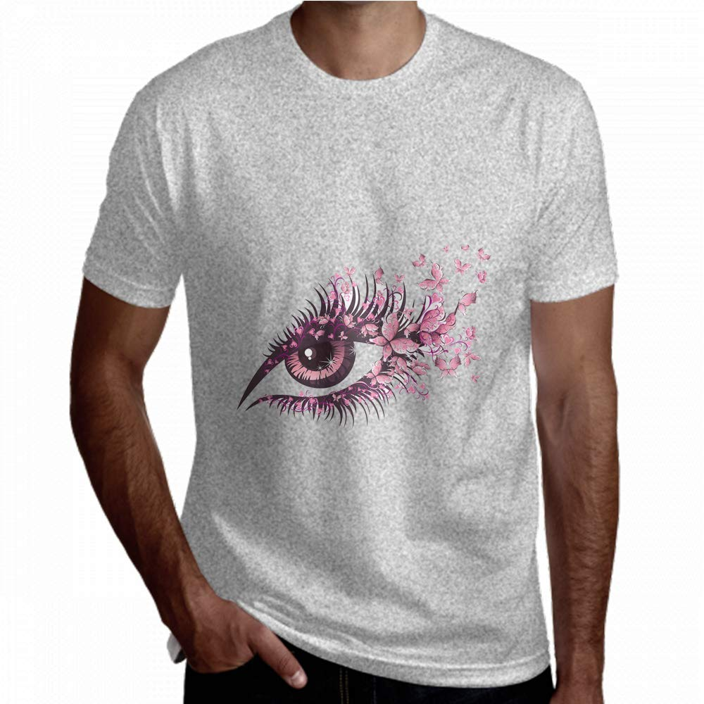 Limiejo T Shirt for Men Particluar Big Eye Colorful Fahion Short Sleeve Graphic Tee