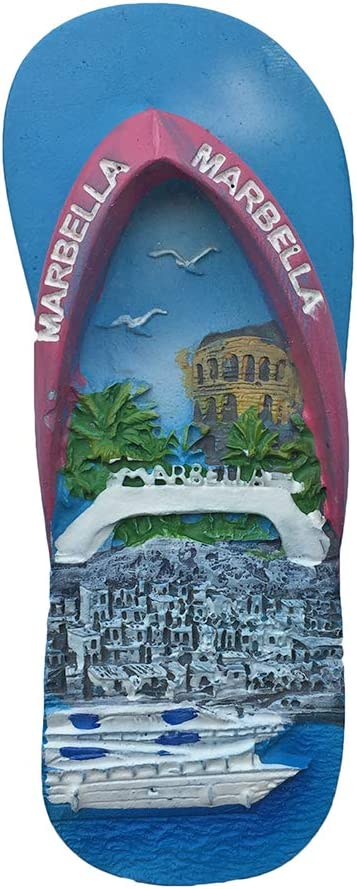3D Marbella España Refrigerador Imán Recuerdo Pegatina Colección, España Hecho a Mano Hogar y Cocina Decoración Nevera Imán: Amazon.es: Hogar