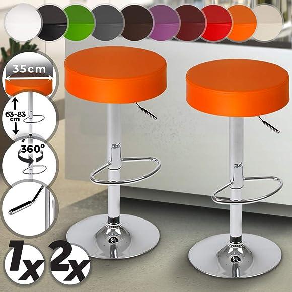 Jago LBHK06 2 Orange Bar Stools