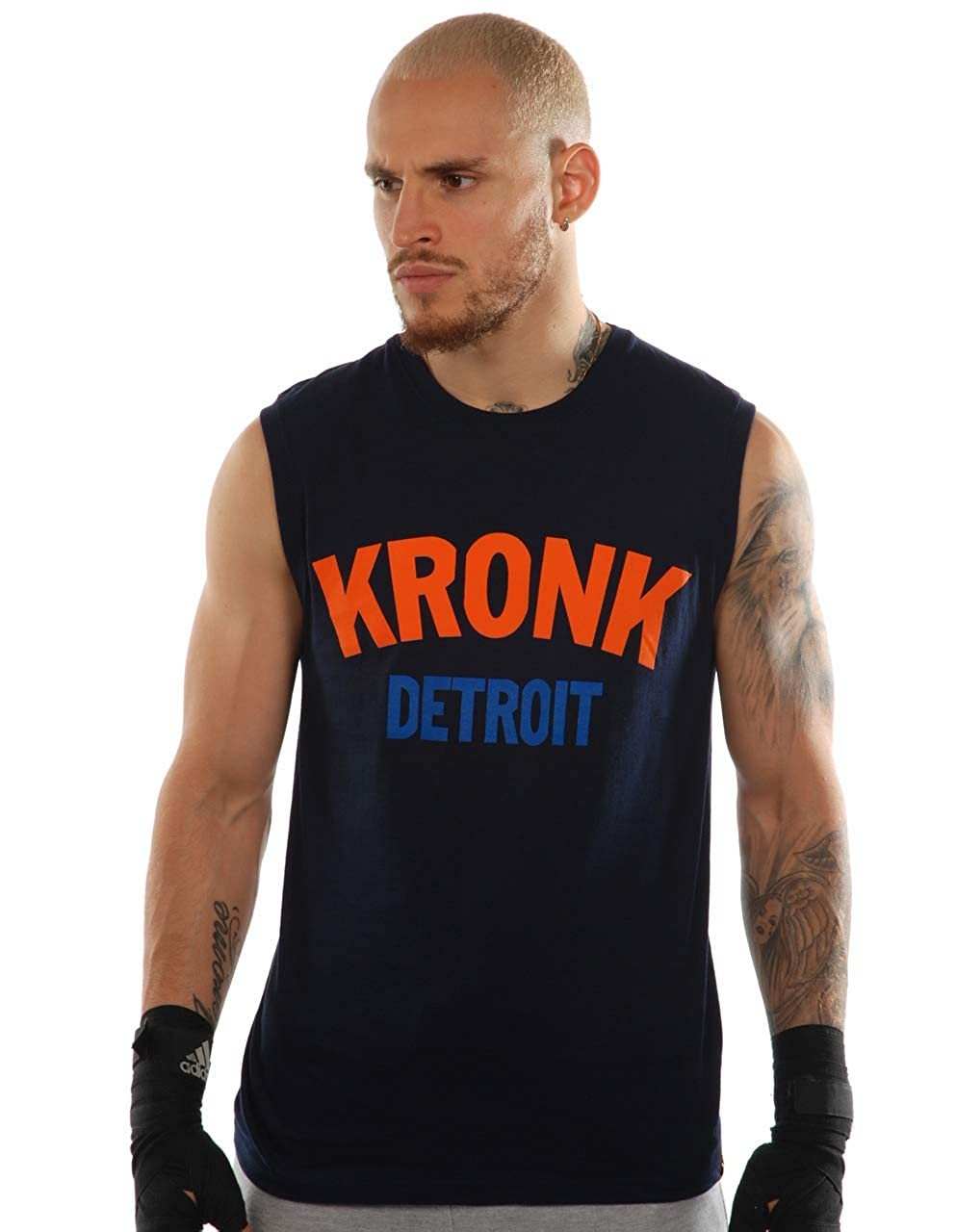 Kronk Two Colour Detroit Sleeveless T Shirt
