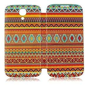 MOFY-Estilo Nacional Patr—n de l'nea de colores de cuero del caso de cuerpo completo para Samsung Galaxy S4 i9500