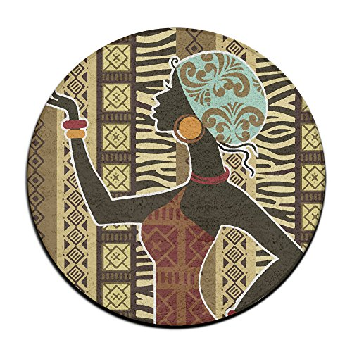 African Tribe Beatuty Round Area Floor Mats Entrance Entry Way Front Door Mat Ground 23.6 Inch Rugs For Decor Decorative Men Women Office by Homedecor