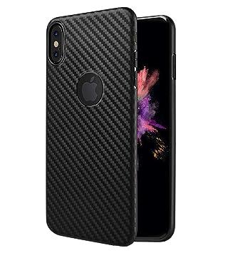 Funda Carbon Fiber Hoco para iPhone X / iPhone XS carcasa ultradelgada con efecto fibra de carbono Marco Bumper Carcasa iPhone X / XS Ultra Slim Cover ...