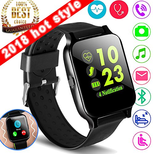 1.54 Smartwatch Sport Fitness Tracker for Women Men with Blood Pressure Heart Rate Monitor Kid Health Activity Tracker Watch Camera Pedometer Calorie BT Call SMS Wearable Holiday Christmas Gifts