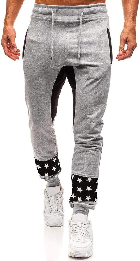 Hombre Pantalones Largos Deportivos Moda Impresos Pantalones ...