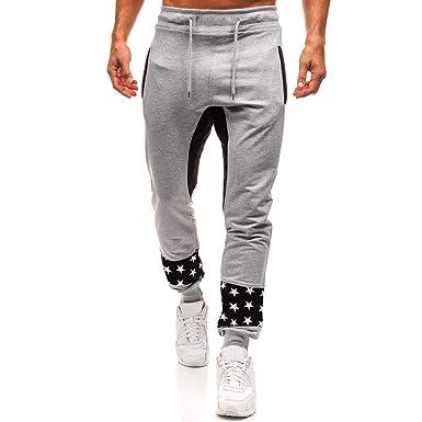 Sylar Hombre Deporte Pantalones Ofertas Moda Estampado De Empalme ...
