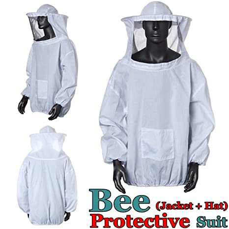 Bee traje, OUTERDO chaqueta de perchero de pared de traje de bata velo Apicultura apicultor