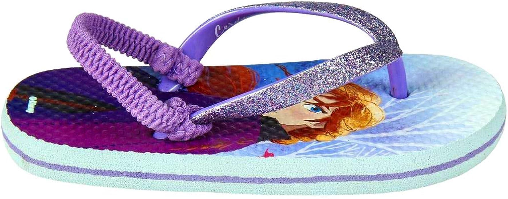 mehrfarbig elastisches Stirnband Premium 26//27 EU Glitzer Frozen 2 Elsa /& Anna Disney Flip-Flops f/ür M/ädchen Gr/ö/ße 24 bis 33