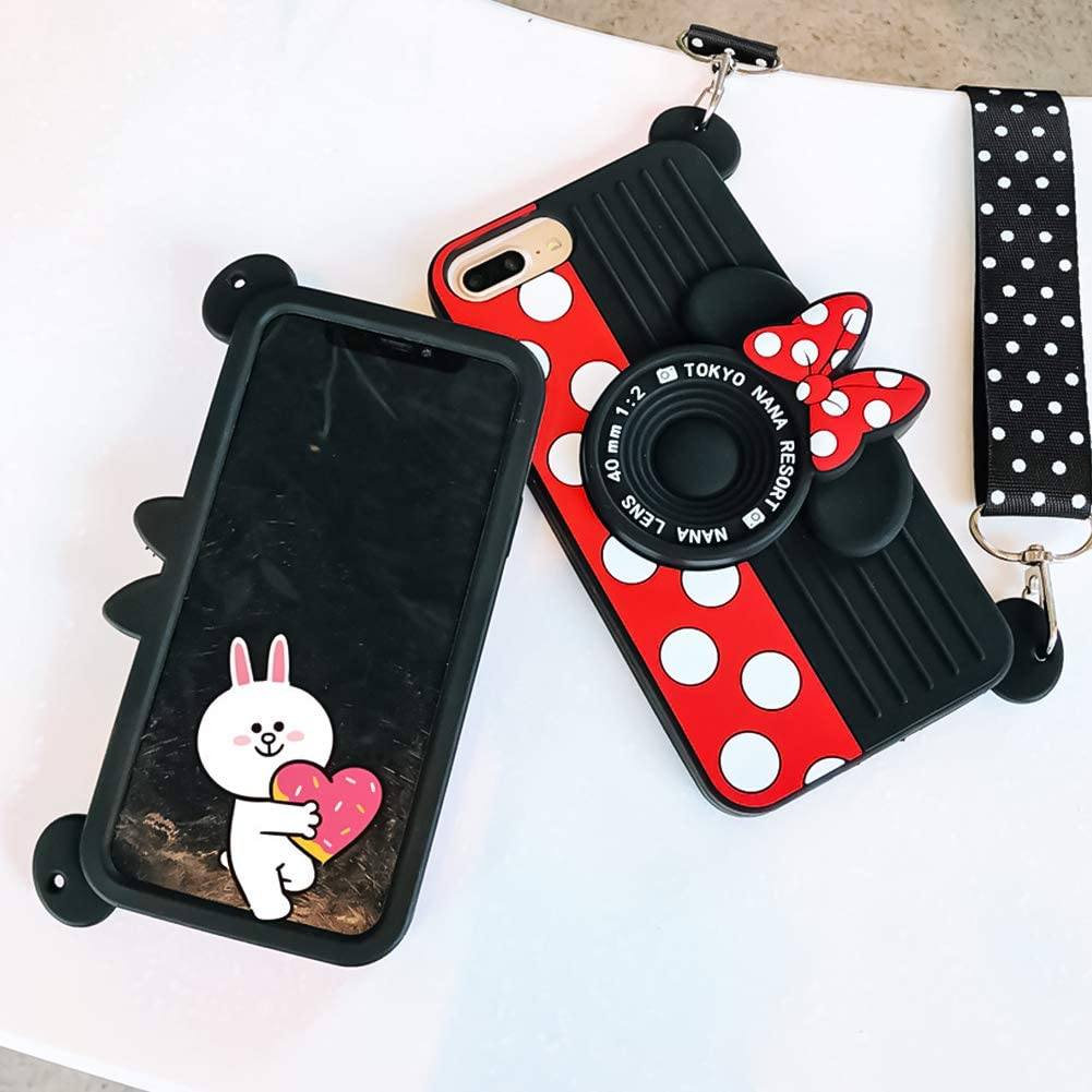 iPhone 7 Plus Case, iPhone 8 Plus Case, Disney Fashion Cute 3D ...