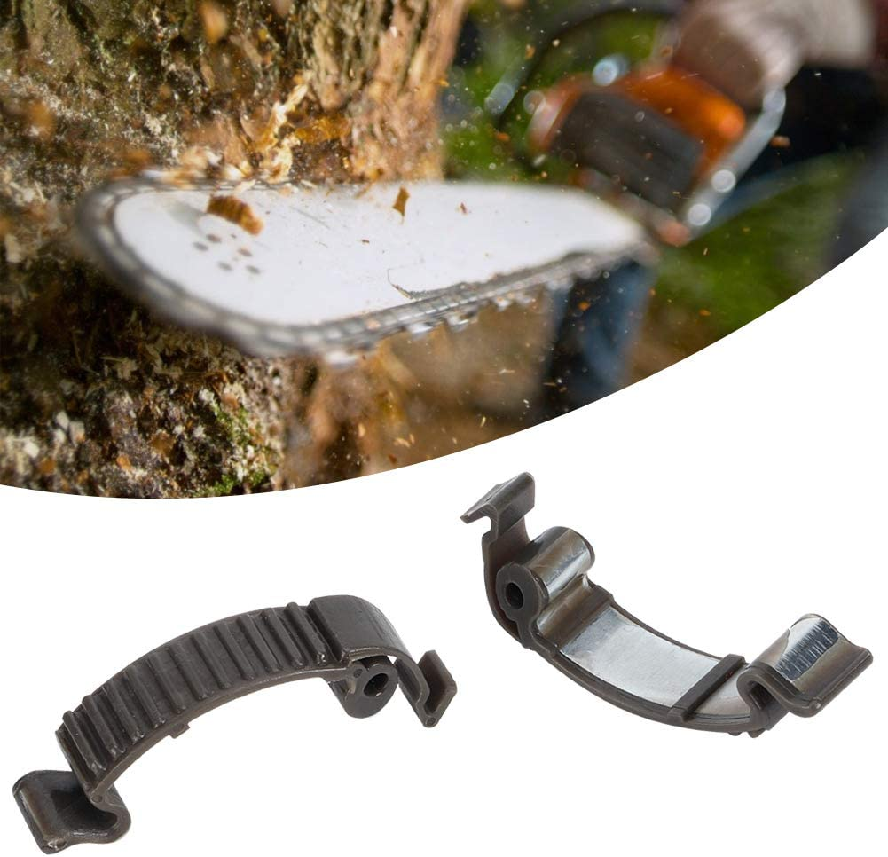 Fdit 2Pcs Chainsaw Cylinder Cover Buckle Clip for Husqvarna 435 440 445 450 359 351 353 357 346XP 575XP