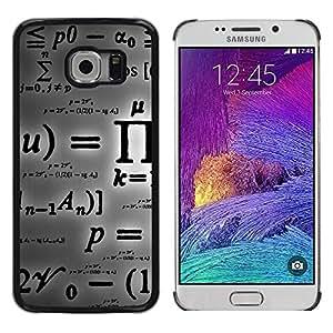 Design for Girls Plastic Cover Case FOR Samsung Galaxy S6 EDGE Pi Mathematics Formula Calculation Letters OBBA