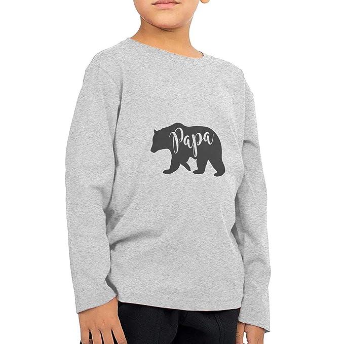 ba3b94003c Amazon.com  Papa Bear Toddler Long Sleeve T-Shirt for Boys   Girls  Clothing