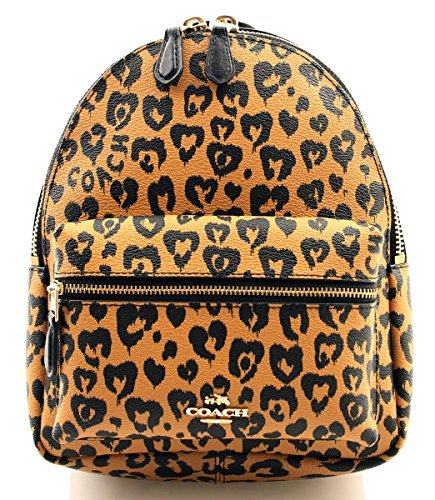 COACH F24208 MINI CHARLIE BACKPACK WITH WILD HEART PRINT - Charlie Pack