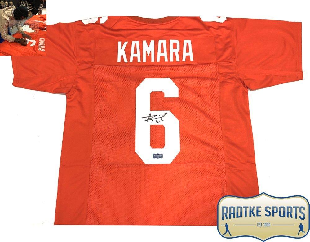 release date ebc1e 0a5ad Alvin Kamara Autographed/Signed Tennessee Orange Custom ...