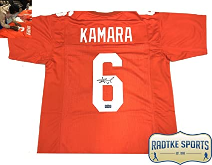 ec32d539 Image Unavailable. Image not available for. Color: Alvin Kamara Autographed/ Signed Tennessee Orange Custom Jersey