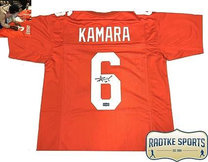 release date 6da62 f0afc Alvin Kamara Autographed/Signed Tennessee Orange Custom ...