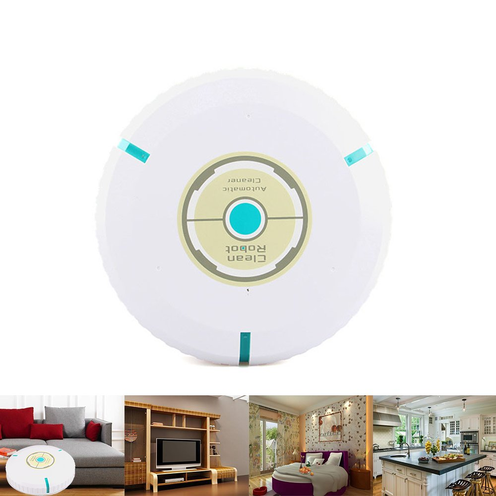 LUCKSTAR Cleaner Robotic 9 Wireless Home Robotic Smart Auto Cleaner Robot Touchless Intelligent Automatic Vacuum Cleaner Sweep Robot Home Cleaning for Clean Carpet Hardwood Floor White
