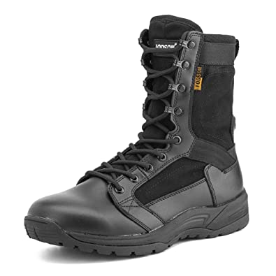ed9c1ca95ba IODSON US Mens' Ultra-Light Combat Boots Military Tactical Work Boots