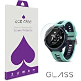 Garmin Forerunner 735XT Screen Protector Tempered Glass (CRYSTAL CLEAR COVERAGE) Front Shield Scratch Proof Protection Exclusive to ACE CASE