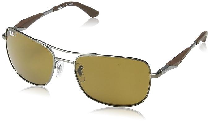 c55c2d92d1 Ray-Ban 3515 004 71 Gunmetal 3515 Square Aviator Sunglasses Lens Category 3  Len