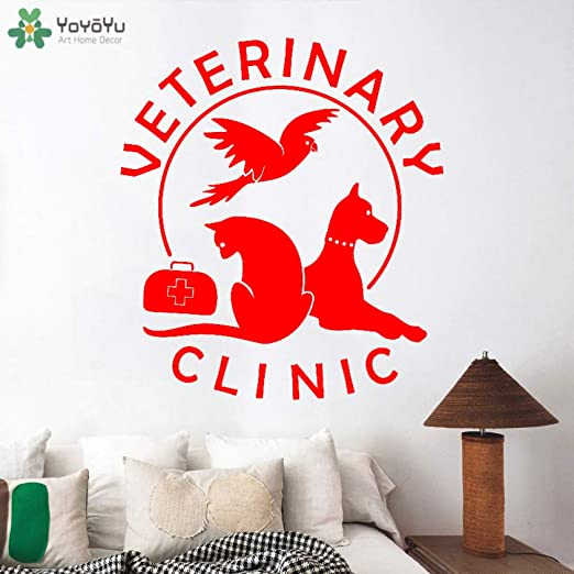 yaoxingfu Tatuajes de Pared Clínica Veterinaria para Mascotas ...