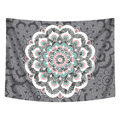 Sunm boutique Tapestry Wall Hanging Indian Mandala Tapestry Bohemian Tapestry Hippie Tapestry Psychedelic Tapestry Wall Decor Dorm Decor (Colorful, 70.8x 92.5)