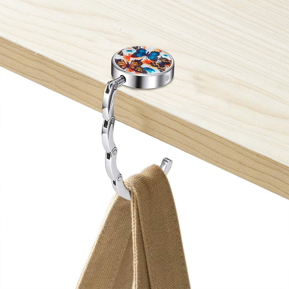 Amazon.com: Juego de 4 ganchos plegables para bolso de mano ...