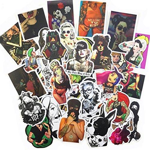 [해외]베이 롱 스케이트 보드 스티커 성인을 위한 팩 100 개 펑크 히피 스티커 노트북 수화물 자동차 오토바이 자전거 범퍼 펑크 스티커 100Pcs / Beyong Skateboard Stickers for Adults Pack 100 Pcs Punk Hippie Sticker for Laptop Luggage Car Motorc...