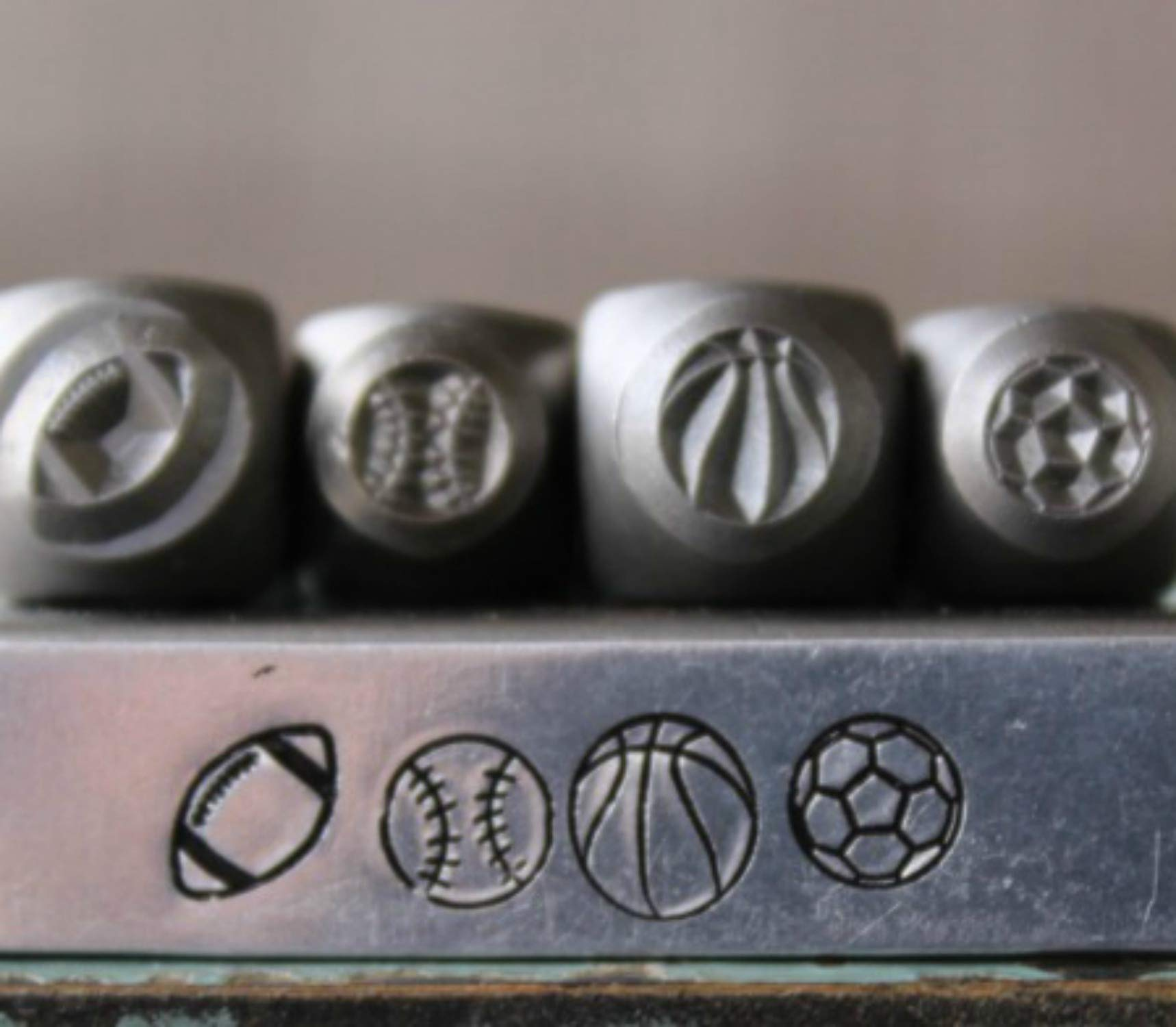 Brand New 5mm and 6mm Sport Ball Metal Punch Design 4 Stamp Set - Supply Guy - CH-236188245311