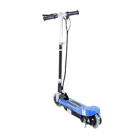 HOMCOM Patinete Patin Electrico Plegable Bateria 120W Manillar Ajustable Scooter Ruedas para Adolescentes