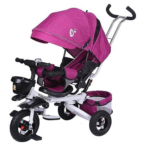 ZHAORU-Cochecitos Cochecito De Bebé Plegable Triciclo Reclinable Sentarse En Un Carrito De Bebé Bicicleta