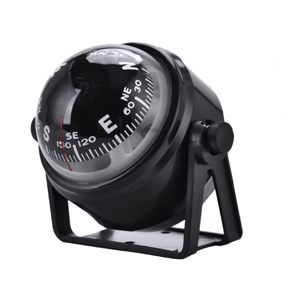 Marine Navigation Compass, Adjustable Boat Night Vision Digital Car Dashboard Compass with Screws, Pick, Adhesive