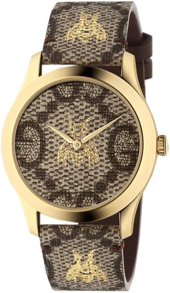 Reloj Gucci YA1264068 Marron Acero 316 L Mujer