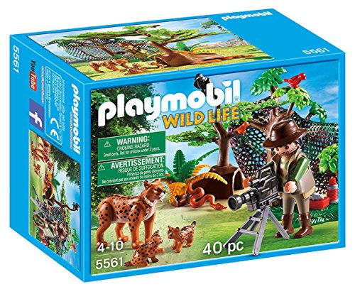 PLAYMOBIL Lynx Family with Cameraman (Zoo Playmobil)