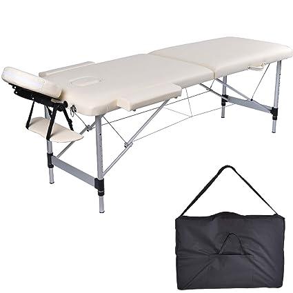 Mcdear Lettino Da Massaggio Pieghevole In Alluminio A 2 Zone Lettino