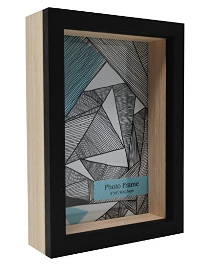 amazon com 4 75x6 75 recessed 3d box picture frame made to fit 4x6