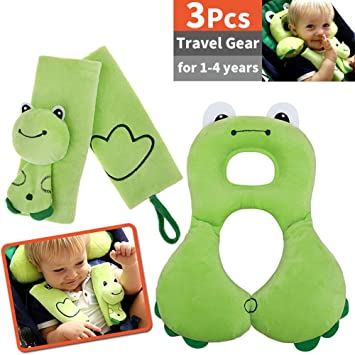 Kids Baby Car Styling Neck Headrest Cushion Car Seat Shoulder Belt Pillow UK