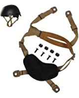 Airsoft Helmet Strap, Tactical 4 Points Chin Strap w/ Screws & Nuts for Fast ACH MICH Helmet, H-Nape /X-Nape Pad Harness
