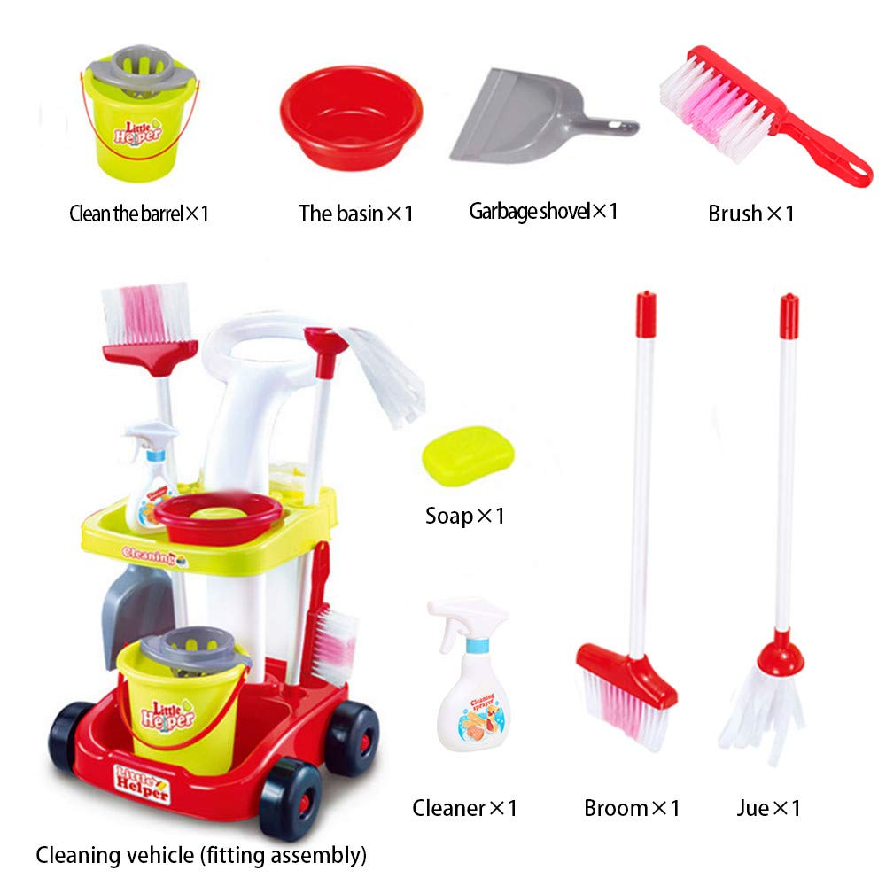 ASfairy Childrens Cleaning Set- Broom, Mini Sweeper, Toy Cleaning Supplies That Work! by ASfairy-Toy (Image #7)