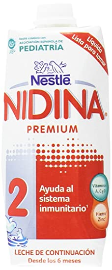 Nestlé Nidina - 2 Leche de continuación - 500 ml - [Pack de 3]