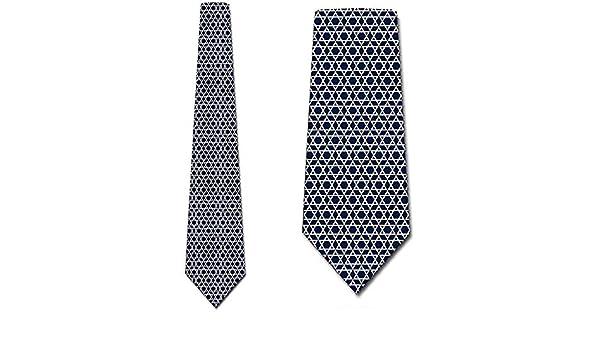 La estrella de David ata la corbata azul marino religiosa para ...