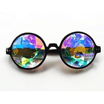 3 couleurs kaléidoscope Lunettes Rainbow Prism- Rainbow Rave Prism  Diffraction pour la musique, les 6c879b4da58a